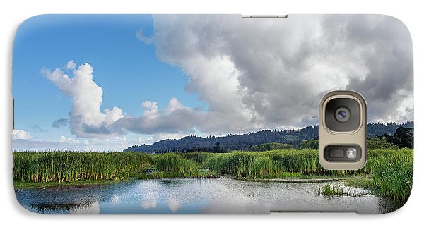 Galaxy Case featuring the photograph Morning Reflections On A Marsh Pond by Greg Nyquist