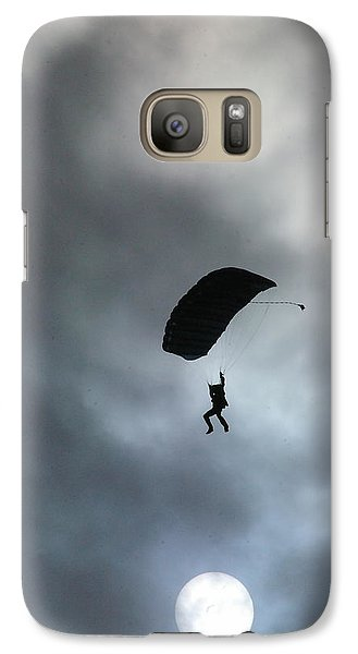 Galaxy Case featuring the photograph Morning Skydive by Tannis  Baldwin