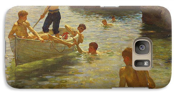 Boat Galaxy S7 Case - Morning Splendour by Henry Scott Tuke