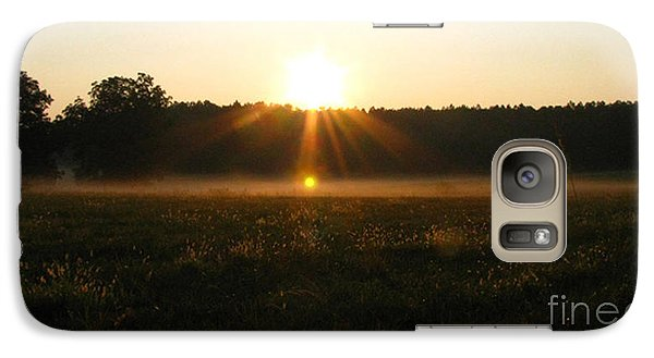 Galaxy Case featuring the photograph Morning Sun Lite Field by Donna Brown
