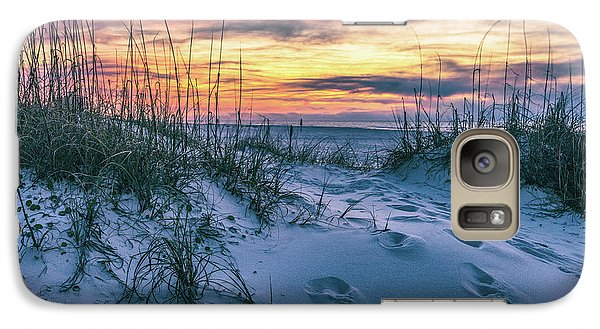 Galaxy Case featuring the photograph Morning Sunrise At The Beach by John McGraw