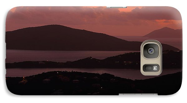 Galaxy Case featuring the photograph Morning Sunrise From St. Thomas In The U.s. Virgin Islands by Jetson Nguyen