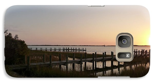 Galaxy Case featuring the photograph Morning Sunrise Over Assateaque Island by Donald C Morgan