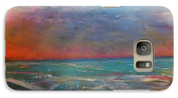 Galaxy Case featuring the painting Morning Sunrise by Vickie Scarlett-Fisher