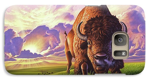 Bison Galaxy S7 Case - Morning Thunder by Jerry LoFaro