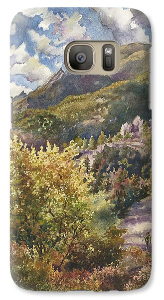 Galaxy Case featuring the painting Morning Walk At Mount Sanitas by Anne Gifford
