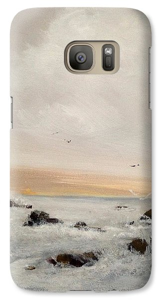 Galaxy Case featuring the painting Morning Walk by Helen Harris