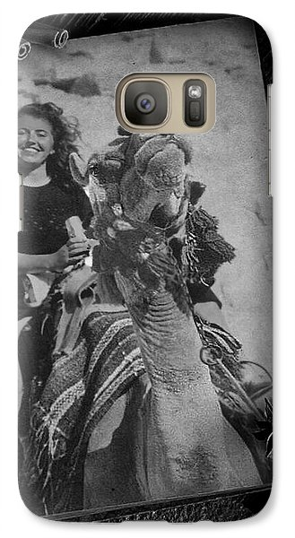 Galaxy Case featuring the photograph Moroccan Camel Trek by Kathy Kelly