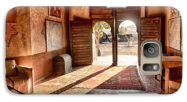 Galaxy Case featuring the tapestry - textile Moroccan Kasbah by Kathy Adams Clark