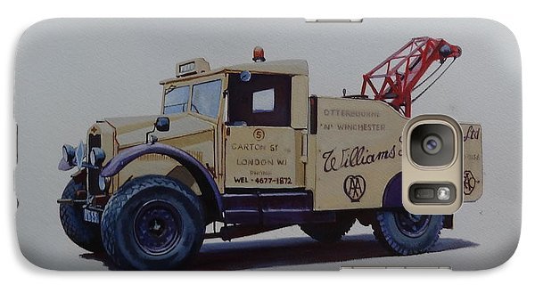 Galaxy Case featuring the painting Morris Commercial Wrecker. by Mike Jeffries