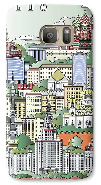 Moscow City Poster Galaxy Case by Pablo Romero