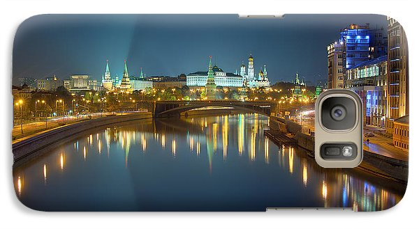 Galaxy Case featuring the photograph Moscow Kremlin At Night by Alexey Kljatov