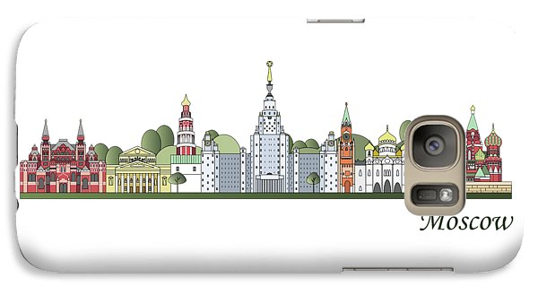 Moscow Skyline Colored Galaxy S7 Case