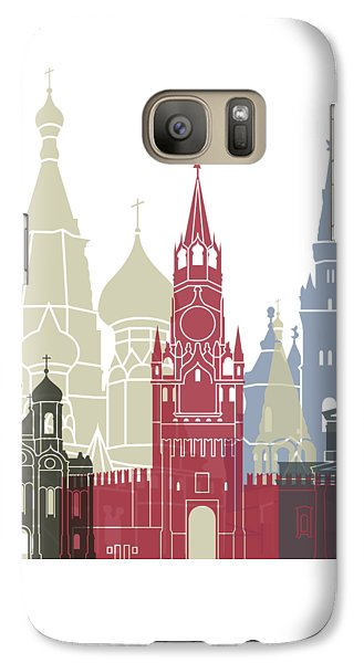 Moscow Skyline Poster Galaxy S7 Case