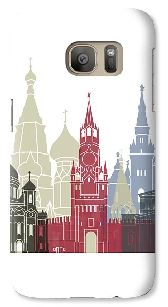Moscow Skyline Poster Galaxy Case by Pablo Romero