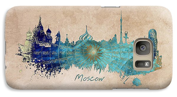Moscow Skyline Wind Rose Galaxy S7 Case