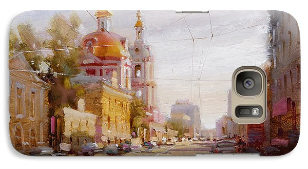 Moscow. Staraya Basmannaya Street Galaxy Case by Ramil Gappasov