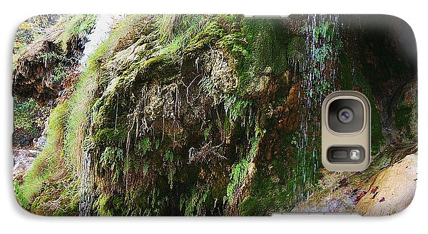 Galaxy Case featuring the photograph Moss And Waterfalls by Sheila Brown