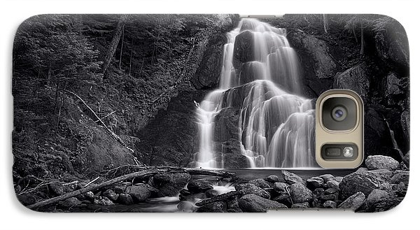 Galaxy S7 Case - Moss Glen Falls - Monochrome by Stephen Stookey