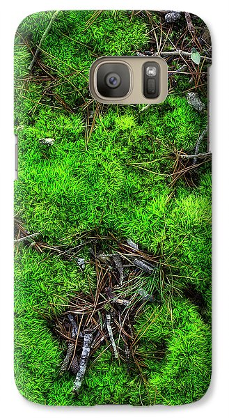 Galaxy Case featuring the photograph Moss On The Hillside by Mike Eingle