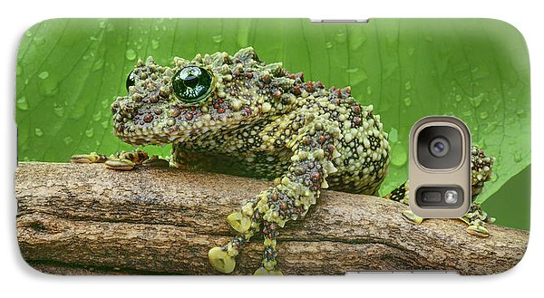 Galaxy Case featuring the photograph Mossy Frog by Nikolyn McDonald