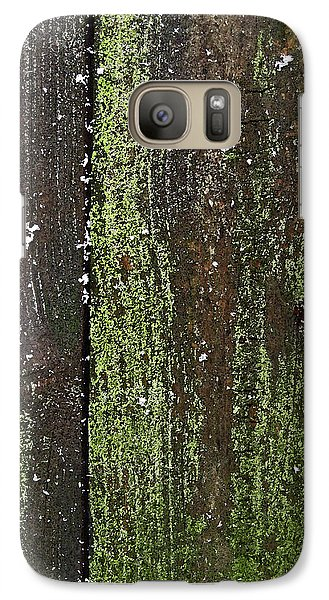 Galaxy Case featuring the photograph Mossy Winter Fence by Mary Bedy