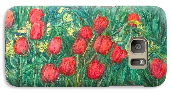 Galaxy Case featuring the painting Mostly Tulips by Kendall Kessler