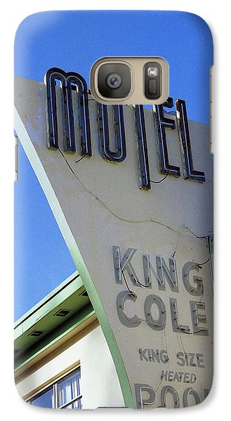 Galaxy Case featuring the photograph Motel King Cole by Matthew Bamberg