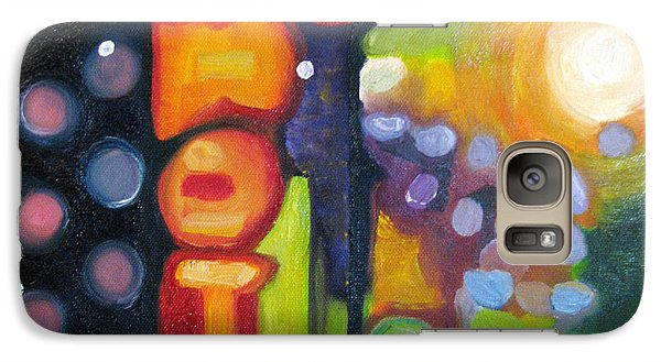 Galaxy Case featuring the painting Motel Lights by Patricia Arroyo