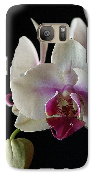 Galaxy Case featuring the photograph Moth Orchid 2 by Marna Edwards Flavell