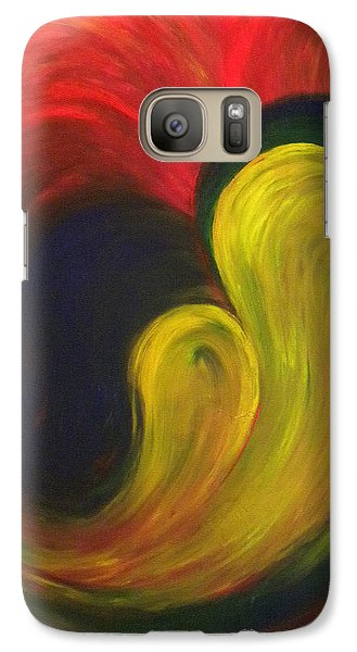 Galaxy Case featuring the painting Mother And Baby by Fanny Diaz