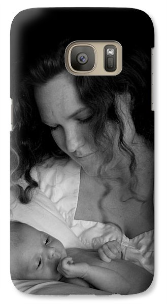 Galaxy Case featuring the photograph Mother And Baby by Kelly Hazel