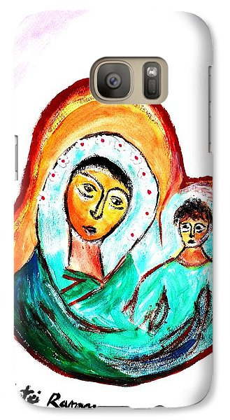 Galaxy Case featuring the painting Mother And Child by Ramona Matei
