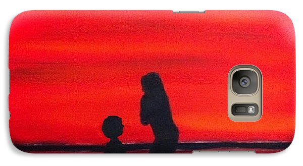 Galaxy Case featuring the painting Mother And Child by Rod Jellison