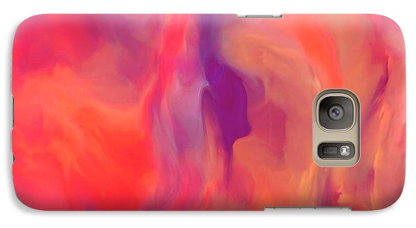 Galaxy Case featuring the painting Mother And Daughter Abstract by Sherri  Of Palm Springs