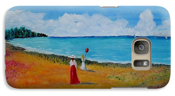 Galaxy Case featuring the painting Mother And Daughter by Marilyn  McNish