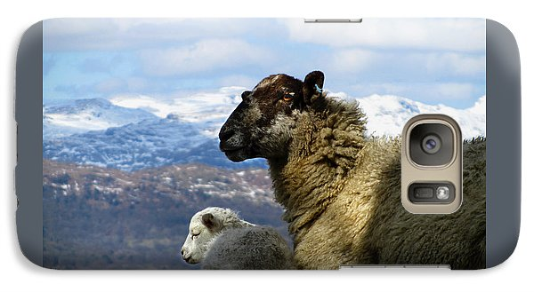 Galaxy Case featuring the photograph Mother And Lamb by RKAB Works
