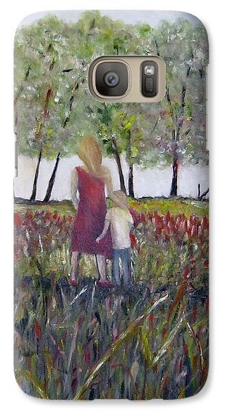 Galaxy Case featuring the painting Mother And Son by Marilyn  McNish