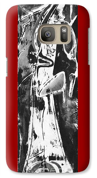 Galaxy Case featuring the painting Mother by Carol Rashawnna Williams