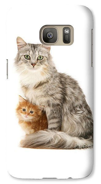 Mother Cat And Ginger Kitten Galaxy S7 Case