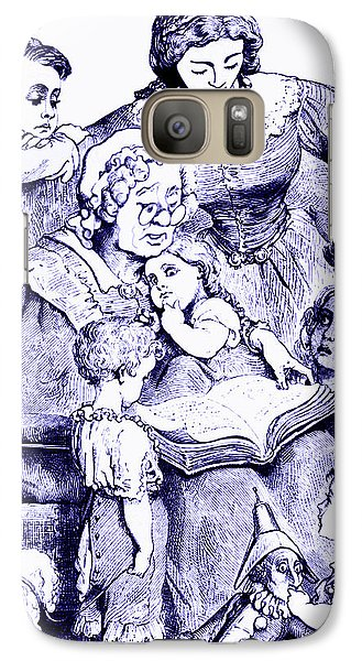 Galaxy Case featuring the painting Mother Goose Reading To Children by Marian Cates