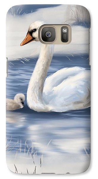 Galaxy Case featuring the painting Mother Love by Veronica Minozzi