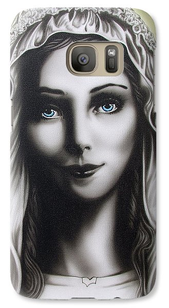 Galaxy Case featuring the painting Mother Mary by Dan Menta