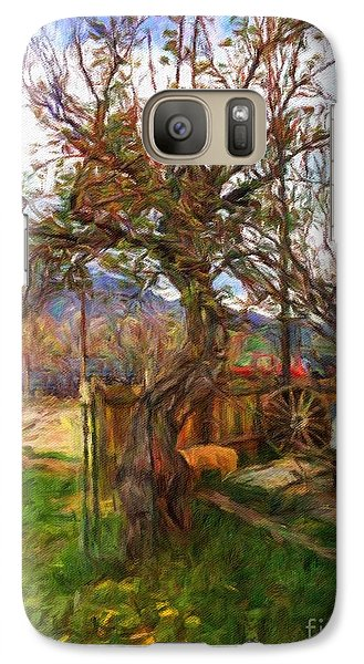 Galaxy Case featuring the painting Mother Nature Twirls by Teri D Brown