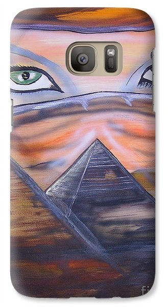 Galaxy Case featuring the painting Mother Of Death by Tbone Oliver