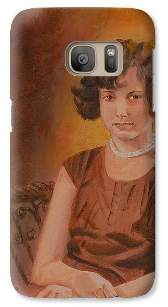 Galaxy Case featuring the painting Mother by Quwatha Valentine