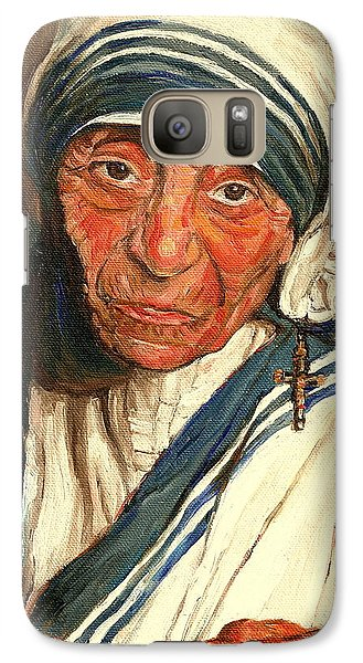 Galaxy Case featuring the painting Mother Teresa  by Carole Spandau