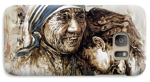 Galaxy Case featuring the painting Mother Teresa  by Gull G