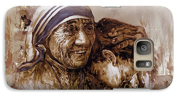 Galaxy Case featuring the painting Mother Teresa Of Calcutta  by Gull G