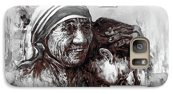 Galaxy Case featuring the painting Mother Teresa Of Calcutta Portrait  by Gull G